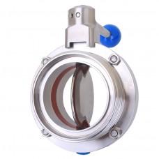 Затвор дисковый нержавеющий Р-Р DN80 AISI 304, DIN