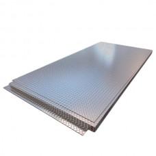 Лист нержавеющий 5,0х1250х2500 мм AISI 304 (08Х18Н10) г/к, 1D, рифленый
