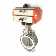 Поворотный затвор дисковый межфланц. (CF8/CF8M) DN32// Управление пневмопривод дв. действия(воздух/воздух)