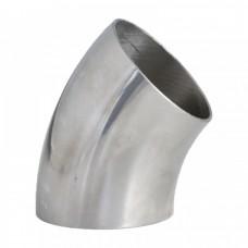 Отвод нержавеющий приварной С-С 45 град.  Dn15  (18х1,0 мм)   AISI 304, DIN 11852