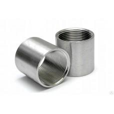 """Муфта соединительная нержавеющая ВР 1/4"""" DN8 (13,7 мм) AISI 304, ISO"""