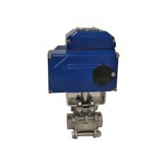 Кран шаровой нерж. 3-х сост. п/проходн. под сварку 1/2' DN15 (21,3 мм) ISO, AISI 316L// Управление электропривод E 24V/220V/380V