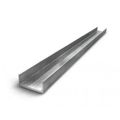 Швеллер нержавеющий 50х25х3,0х3,0х6200 мм AISI 304 (08Х18Н10) г/к, 1D