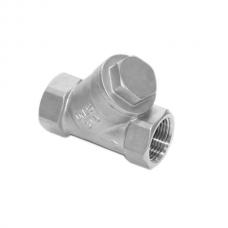 """Обратный клапан нерж. Y-образный ВР-ВР 1 1/2"""" DN40 (48,3мм), ISO, AISI 304"""