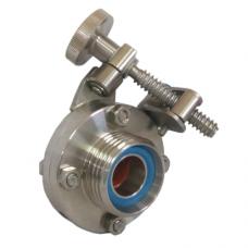 Затвор дисковый нержавеющий Р-Р DN25 (Рычаг управления Болт) AISI 304, DIN