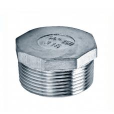 """Заглушка нержавеющая резьбовая НР DN10 17,2 мм (3/8"""" ISO) AISI 304"""